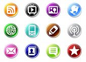An illustrasion set of simple media icons for your website, application, or presentation.  Good look