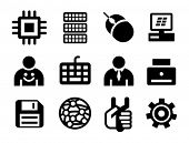 Set a black computer icons