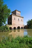 Abate Tower. Mesola. Emilia-Romagna. Italy. poster