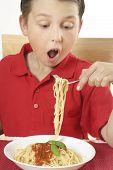 Child Eating Spaghetti poster
