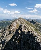 Spectacular Tatra Mountains Panorama With Many Peaks Of Zapadne And Vysoke Tatry Mountains From Shar poster