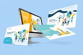 Web Design Template. Vector Illustration Concept Of Website Design And Development, App Development, poster