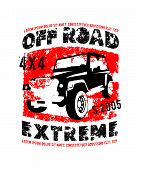 Off-road Logo. Extreme Competition Emblem. Off-roading Suv Adventure And Car Club Elements. Vector I poster
