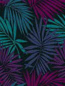 Tropical Seamless Pattern With Leaves. Beautiful Tropical Isolated Leaves. Fashionable Summer Backgr poster