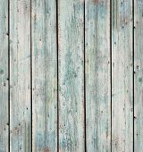 Blue Wooden Plank Desk Table Background Texture. Old Painted Wall Wooden Vintage Floor. Green Plank  poster