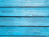 Wooden Fence Of Blue Boards. Boards Blue. Blue Wooden Background. poster