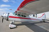 stock photo of cessna  - This Cessna 195 has been restored and well maintained - JPG