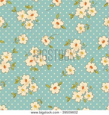 Vintage floral seamless