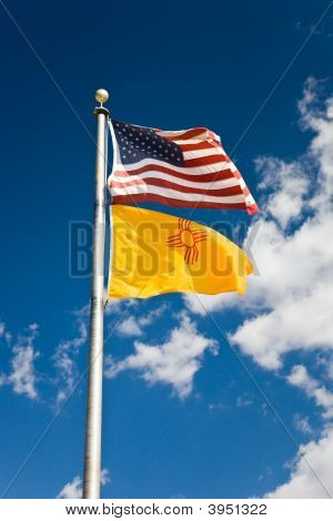 Flag Usa And New Mexico