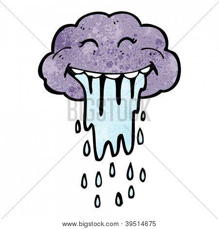 cartoon funny raincloud