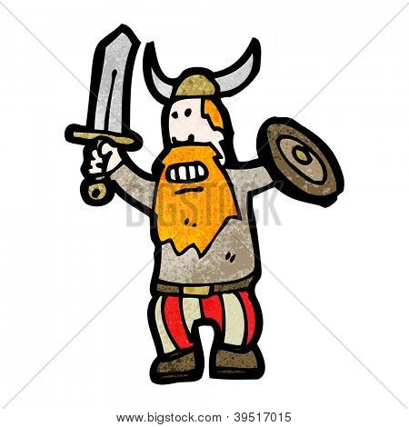 cartoon viking man