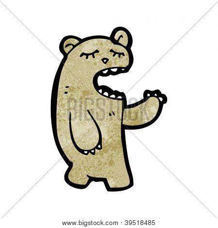 cartoon yawning bear
