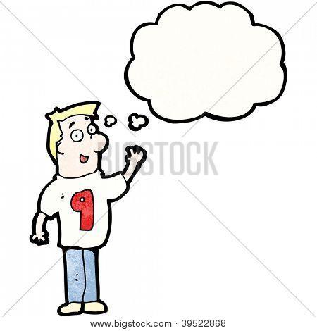 cartoon man in shirt number 9