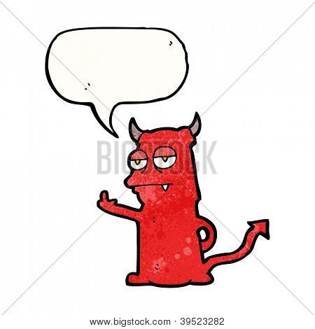 rude little devil cartoon