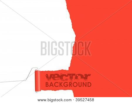 red paint roller background