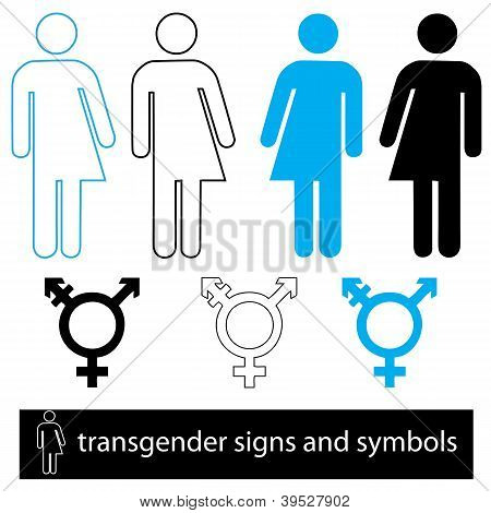 Transgender Icon And Symbol Set
