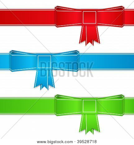 Ribbons with bows