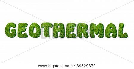 Energia geotérmica.
