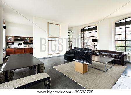 schönes Haus, Innenansicht des Wohnzimmers