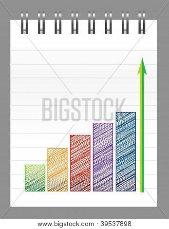 Business Graph On A Notepad