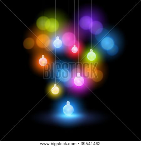 A collection of christmas fairy bauble lights