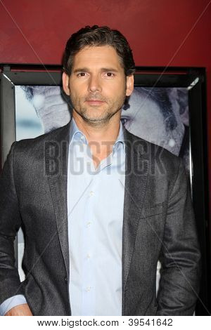 LOS ANGELES - NOV 29:  Eric Bana arrives at the 'Deadfall' premiere at ArcLight Hollywood Theaters on November 29, 2012 in Los Angles, CA