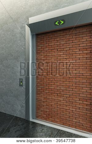 modern elevator with deadlock 3d render