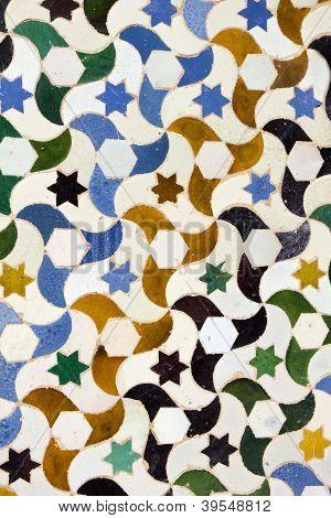 Moisaic In Alhambra, Granada.