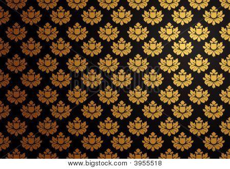 schwarz und gold Glamour Muster