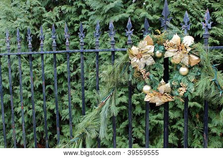 Gorgeous pine boughs with wreath