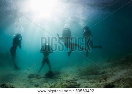underwater dancers