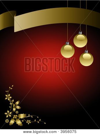 Christmas Background With A Banner
