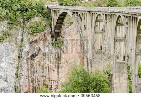 Tara Bridge In Montenegro