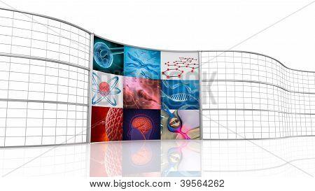 Medical background , digital 3D display