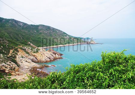 seaside with great rocks at china