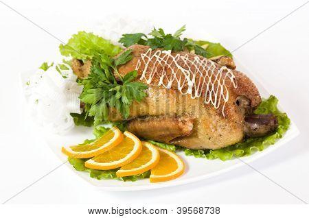 Roast duck with orange