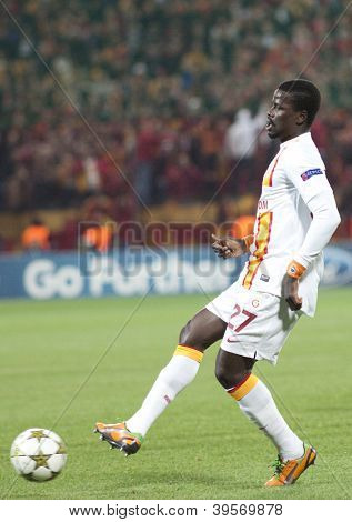 CLUJ-NAPOCA, ROMANIA - NOVEMBER 7:  Eboue in UEFA Champions League match between CFR 1907 Cluj vs Galatasaray,  on 7 Nov., 2012 in Cluj-Napoca, Romania