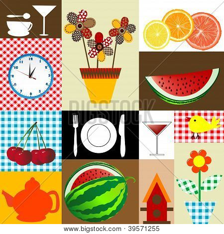 Kitchen Table Cloth Design