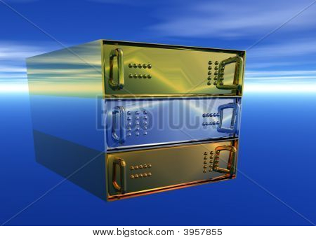 Gold Silver Bronze Server Rack Hosting