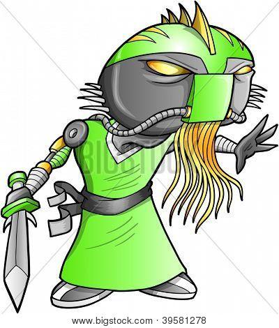 Alien Warrior soldado robô Cyborg Vector