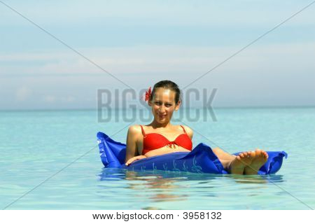 Woman On An Air Mattress