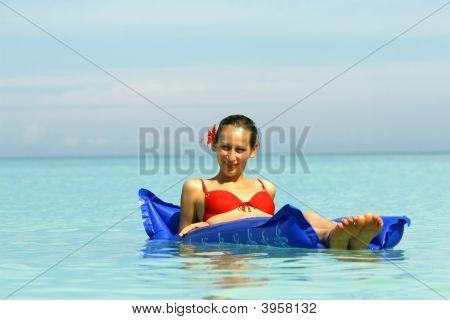 Woman On An Air Mattress