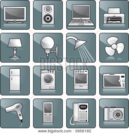 Icon Set - Home Equipment, Appliances