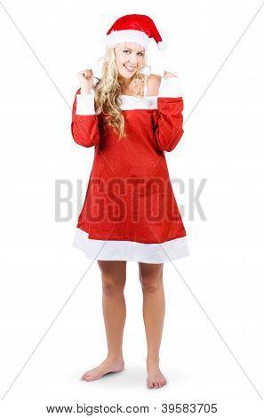Fully Body Santas Little Helper Elf Looking Happy
