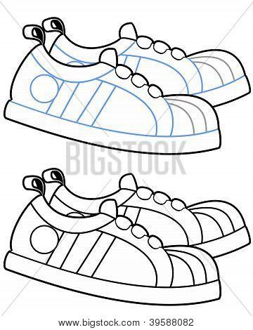Cartoon Running Shoes