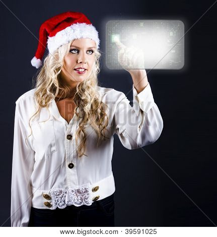 Smart Woman Shopping Online For Christmas Presents