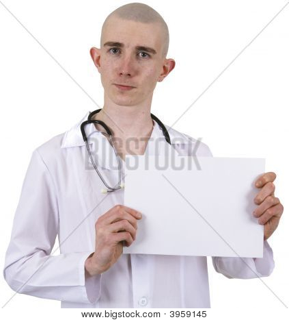 Doctor On A White Background