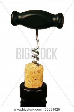 Corkscrew In Bottle Cork.