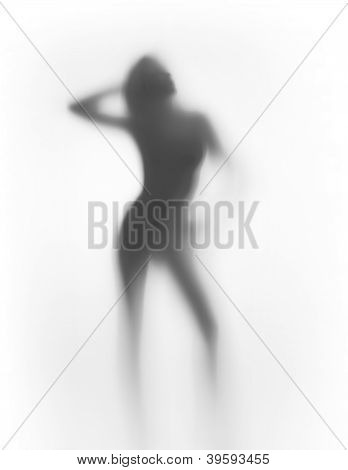diffuse silhouette of a sexy woman