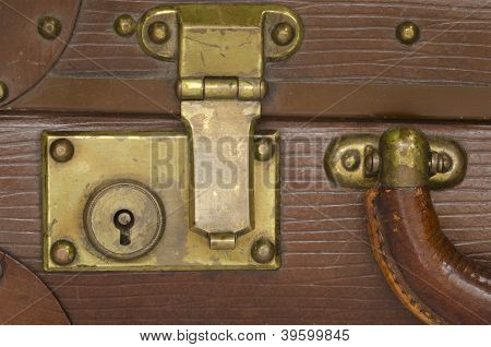 old suitcase lock